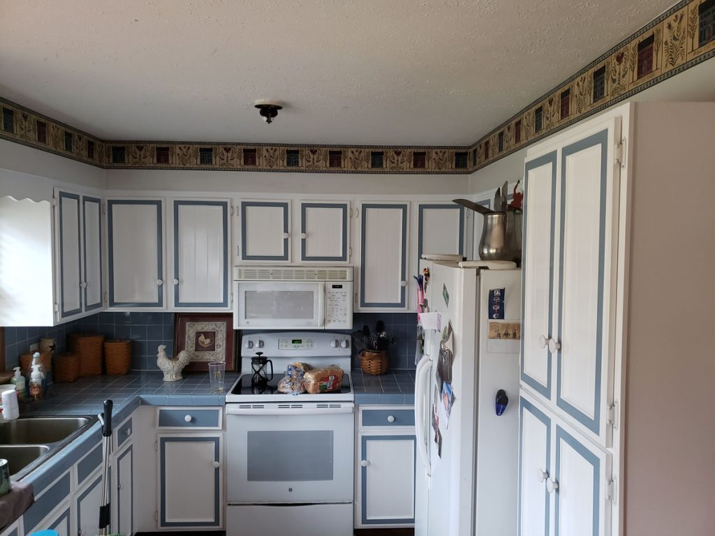 repainted kitchen
